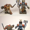 Space Hulk Blood Angels Terminators Librarian and Sergeant Lorenzo WIP